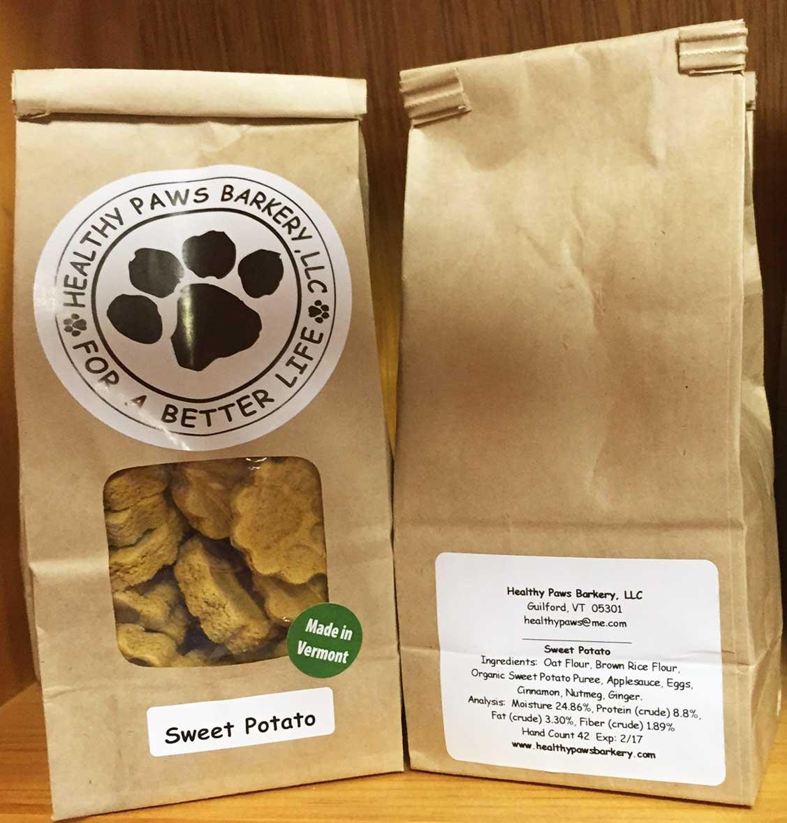 Healthy Paws Barkery - Sweet Potato Dog Treats
