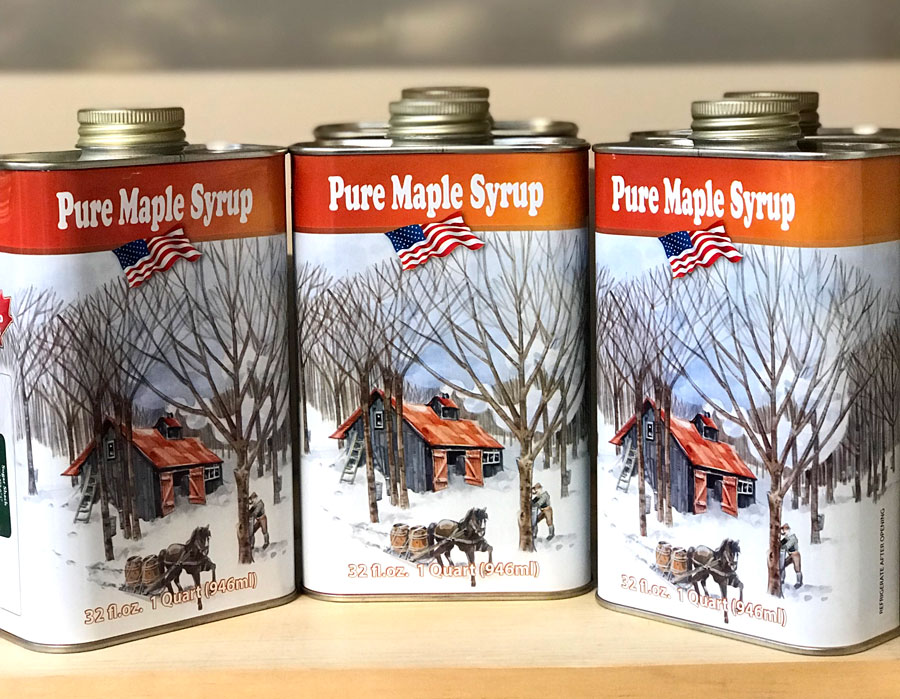 Tin Quart - Pure Vermont Maple Syrup